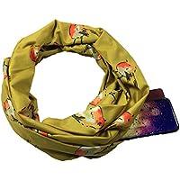 Auppova Women Scarf,Women Fashion Bird Print Warm Infinity Loop Scarf Shawl Wrap With Hidden Zipper Pocket, Travel Scarf