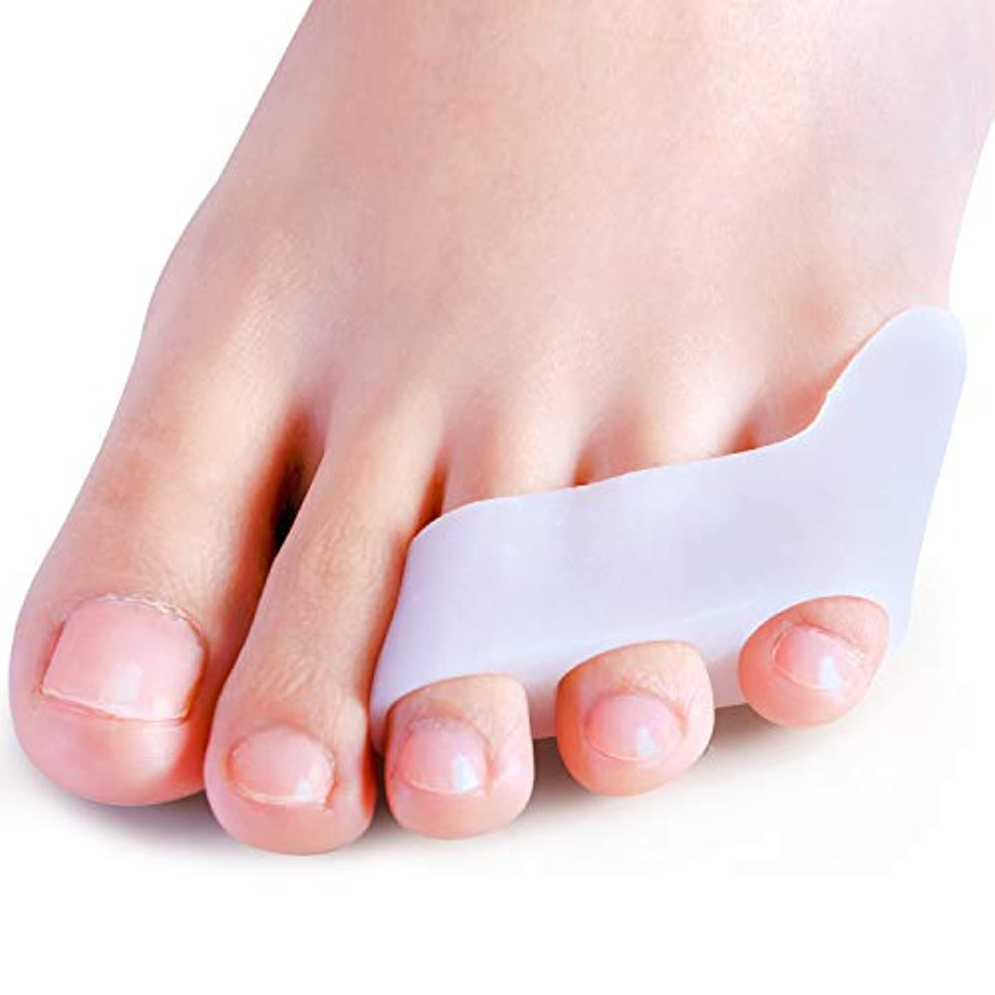 技術者期限労働Povihome 10X 足の小指 サポーター,足の小指保護  白い