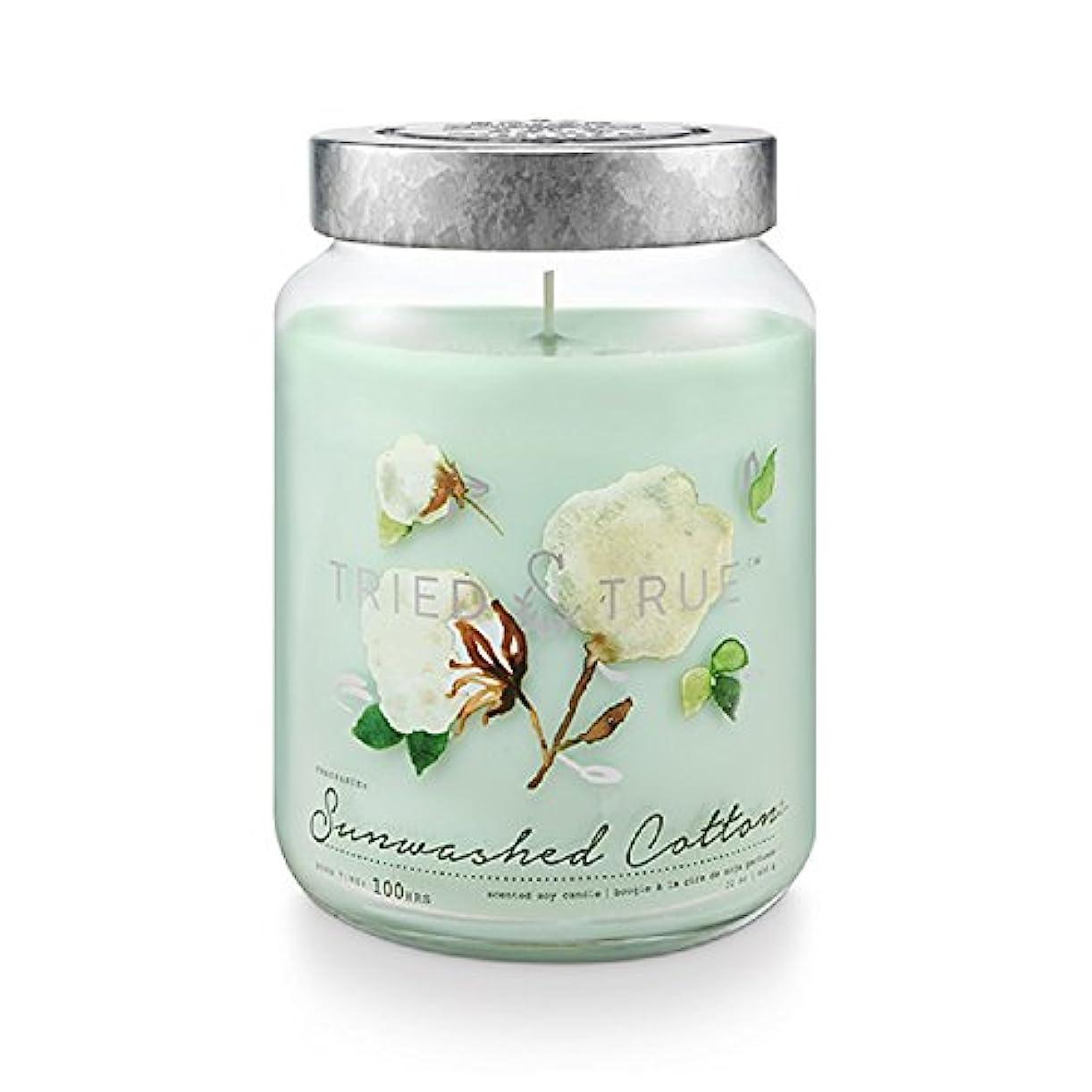 奴隷フラフープラケットTried and True SunwashedコットンExtra Large Jar Candle 22.2オンス
