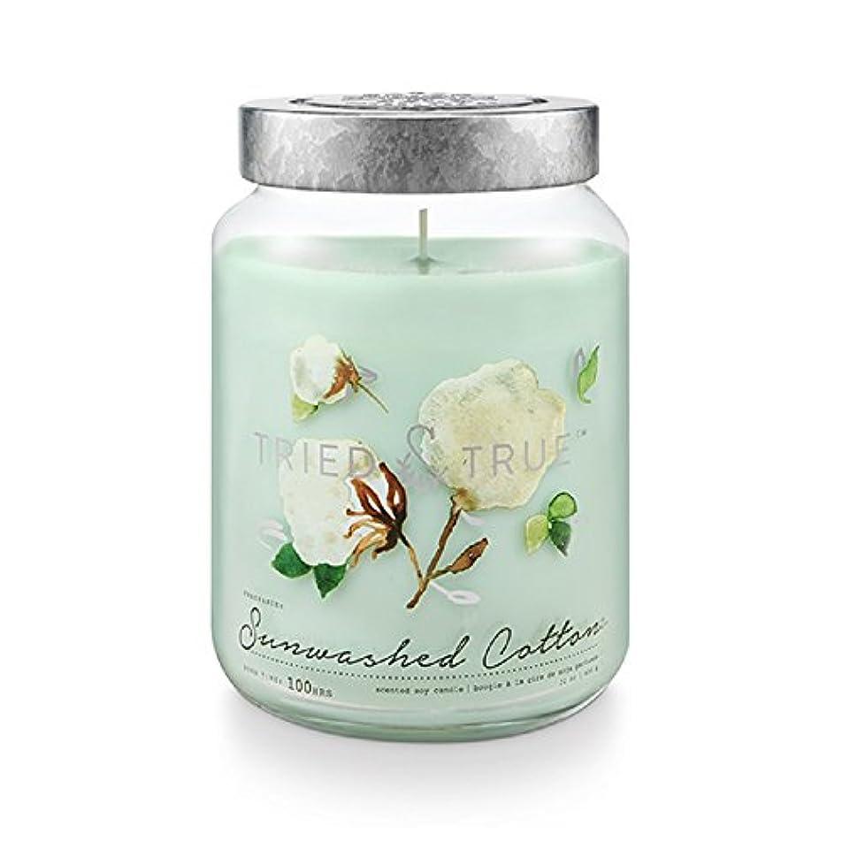 状況バイナリ手入れTried and True SunwashedコットンExtra Large Jar Candle 22.2オンス