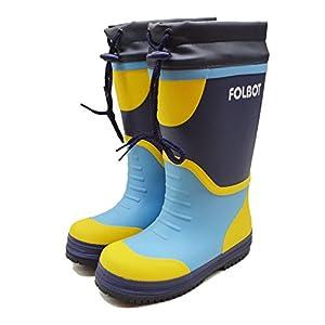 FOLBOT(フォルボット) レディース スノーブーツ/防滑 防寒 長靴/女性用 紐付き長靴/ウレタン素材であったか防水防寒長靴 FB-04J ネイビー 20cm