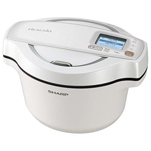 シャープ 水なし自動調理鍋(1.6L) ヘルシオホットクック ホワイト KNHW16DW