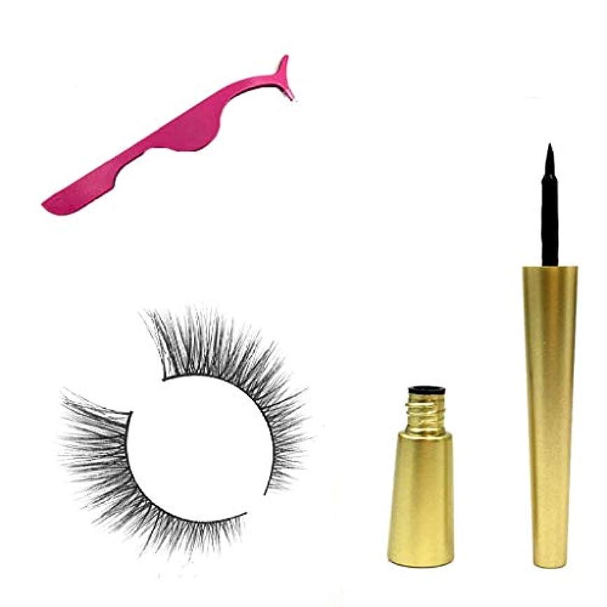 手賢明なマッサージLQQSTORE つけまつげ まつげ ナチュラル ナチュラル人気があるメイクアップ 磁気つけまつげ+ピンクのまつげカーラー+磁気アイライナー
