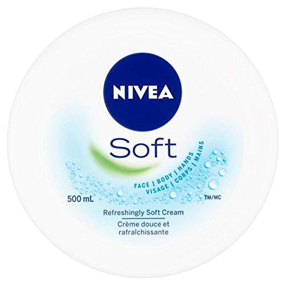 報告書薄いブロック[Nivea] ニベアソフト爽やかなクリーム500ミリリットル - Nivea Soft Refreshing Cream 500Ml [並行輸入品]