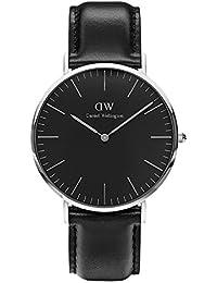 CLASSIC BLACK新品Daniel Wellington ダニエル ウェリントン SHEFFIELD メンズ腕時計 クラッシー 本革  腕時計 シルバー 40mm [並行輸入品]
