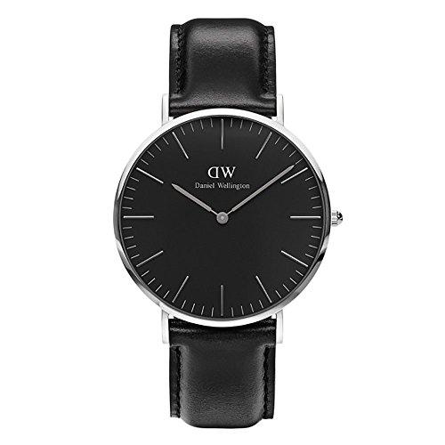 CLASSIC BLACK新品Daniel Wellington ダニエル ウェリントン SHEFFIELD メンズ腕時計 クラッシー 本革  腕時計 シルバー 40mm? [並行輸入品]