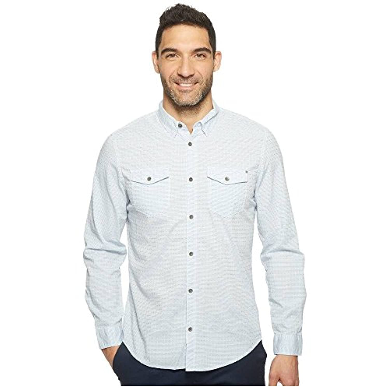 (カルバンクライン) Calvin Klein Jeans メンズ トップス シャツ Float Pattern Dobby Weave Button Down [並行輸入品]