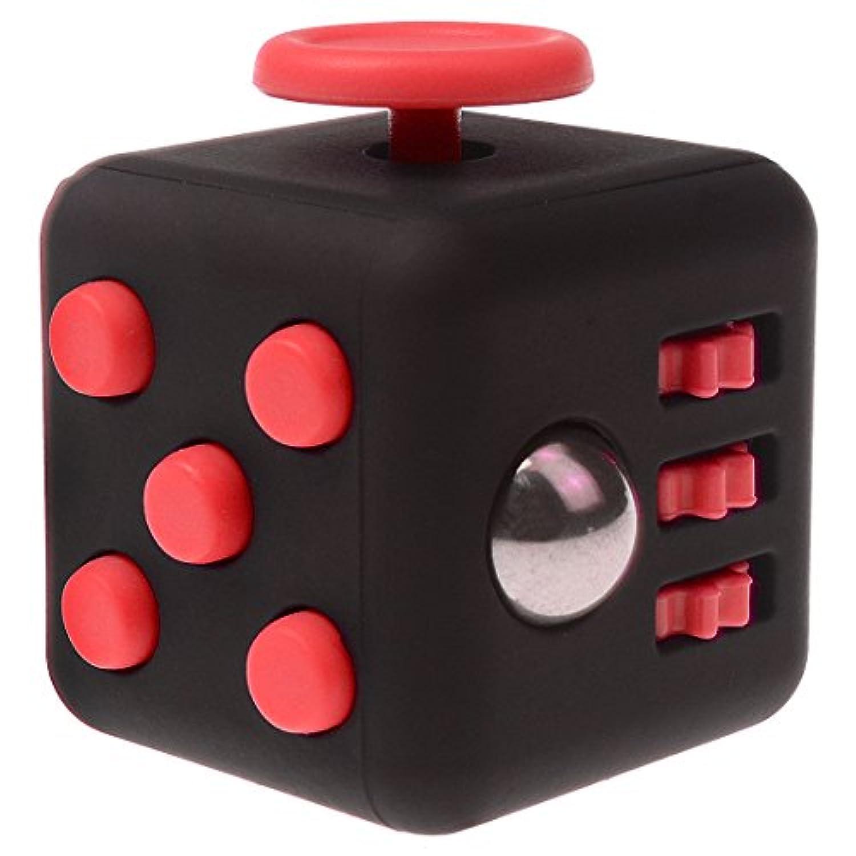 不安フィジッドダイスおもちゃストレスリリーフキューブ減圧Rubik#11黒赤 [並行輸入品]