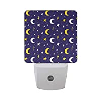 ナイトライト 月 ほし 星空 きれい LEDライト 常夜灯 足元ライト 省エネ コンセント 室内照明 玄関 階段 廊下 寝室用 センサー 子供 お年寄り 授乳ライト 壁掛け照明
