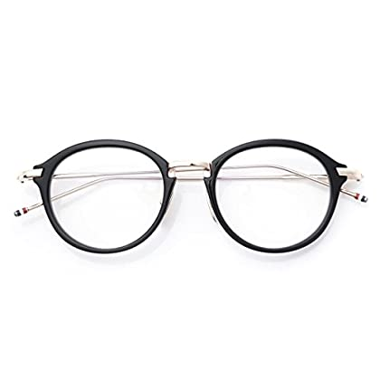 (トムブラウン) THOM BROWNE. 眼鏡 49サイズ オーバル [並行輸入品]