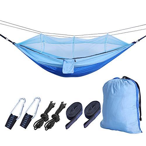 ハンモック 蚊帳 Bigtime キャンプ用品 2人用 260×140cm ...