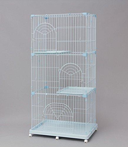 アイリスオーヤマ ペットケージ ミルキーブルー 3段 93×63cm  PEC-903