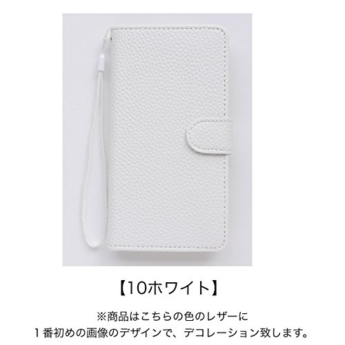 【Yoco Joy】AQUOS PHONE Xx 106SH SoftBank 専用 合成 PU ケース ?スマホカバー 手帳型 横【ばら 188】ブランド ロゴ入り 通販 おしゃれ きらきら デコ鏡付き・10ホワイト