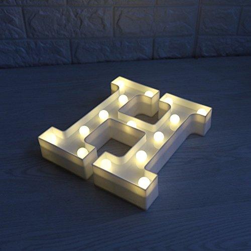 LED イルミネーション イニシャルライト アルファベットライト ホームイベント インテリア ギフト H