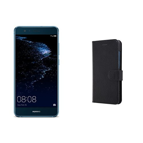 Huawei 5.2型 P10 lite SIMフリースマートフォン サファイアブルー 【日本正規代理店品】(手帳型ケースセット)