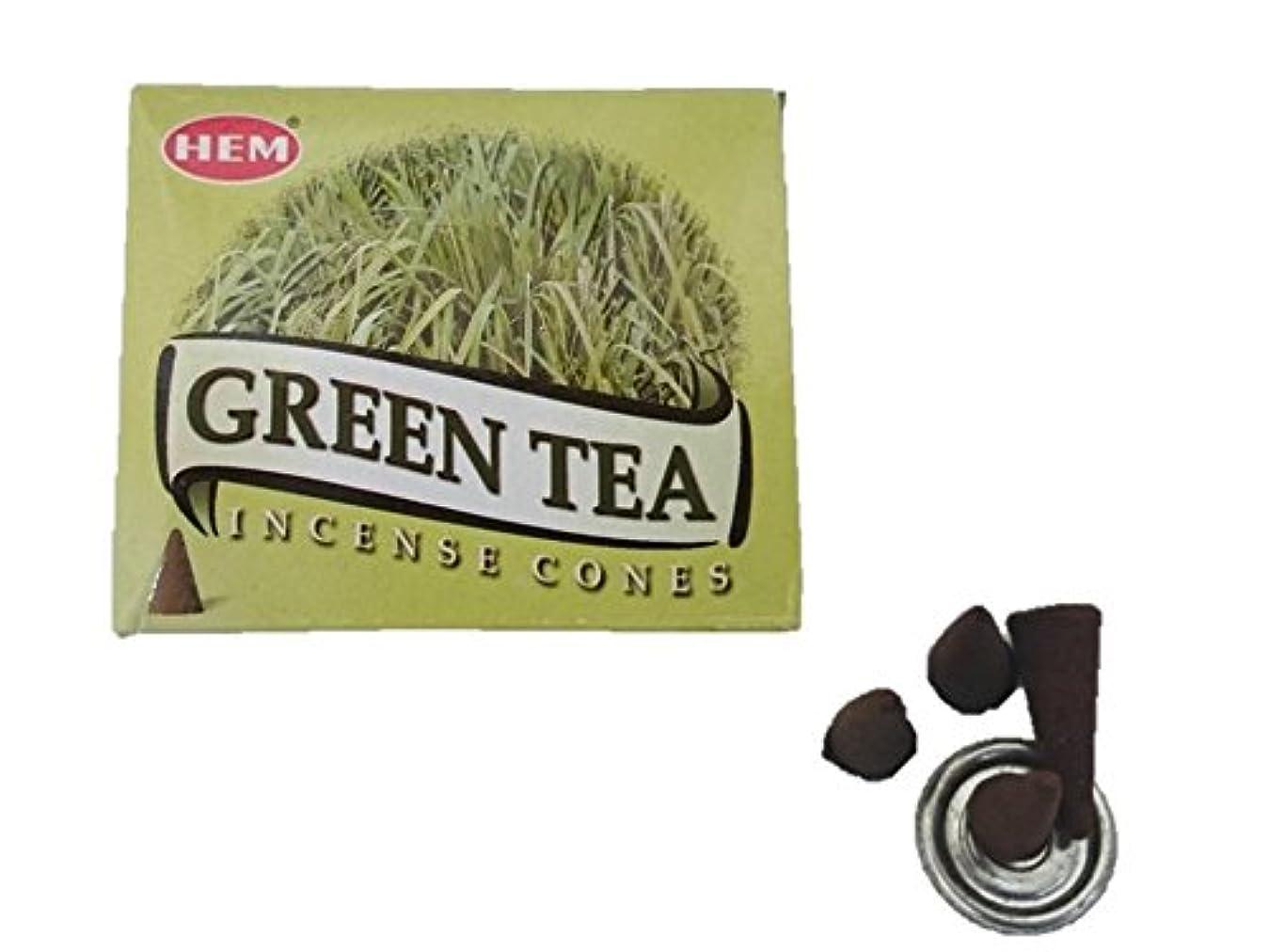 ギャロップ蓮サンドイッチHEM(ヘム)お香コーン グリーンティー コーン 1箱