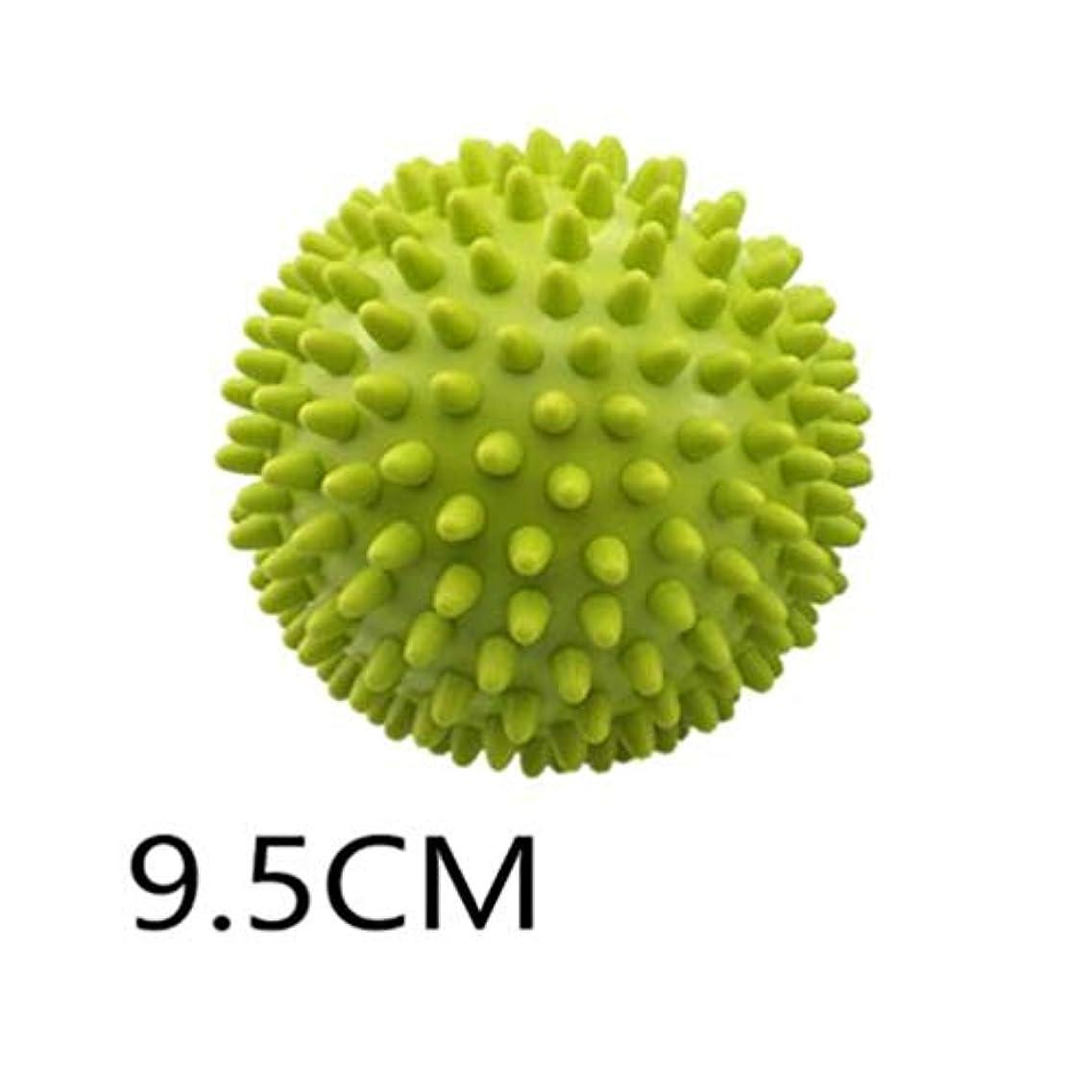 中性推定するフラフープとげのボール - グリーン