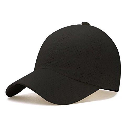 キャップ帽子,Hoomoi 春 夏 秋 メッシュキャップ 速乾 通気性抜群 男女兼用 メンズ レディース 登山 釣り おしゃれ 野球帽 調節可能 日焼け防止 運 動 紫外線対策 無地 3色選択可能