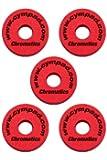 Cympad Chromatics Set Accessoires pour cymbale 40/15 mm Bleu Pack de 5