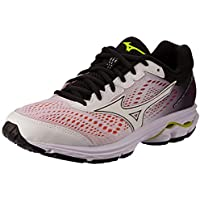 Mizuno Australia Women's Wave Rider 22 Running Shoes, White/White/Black, 7.5 US