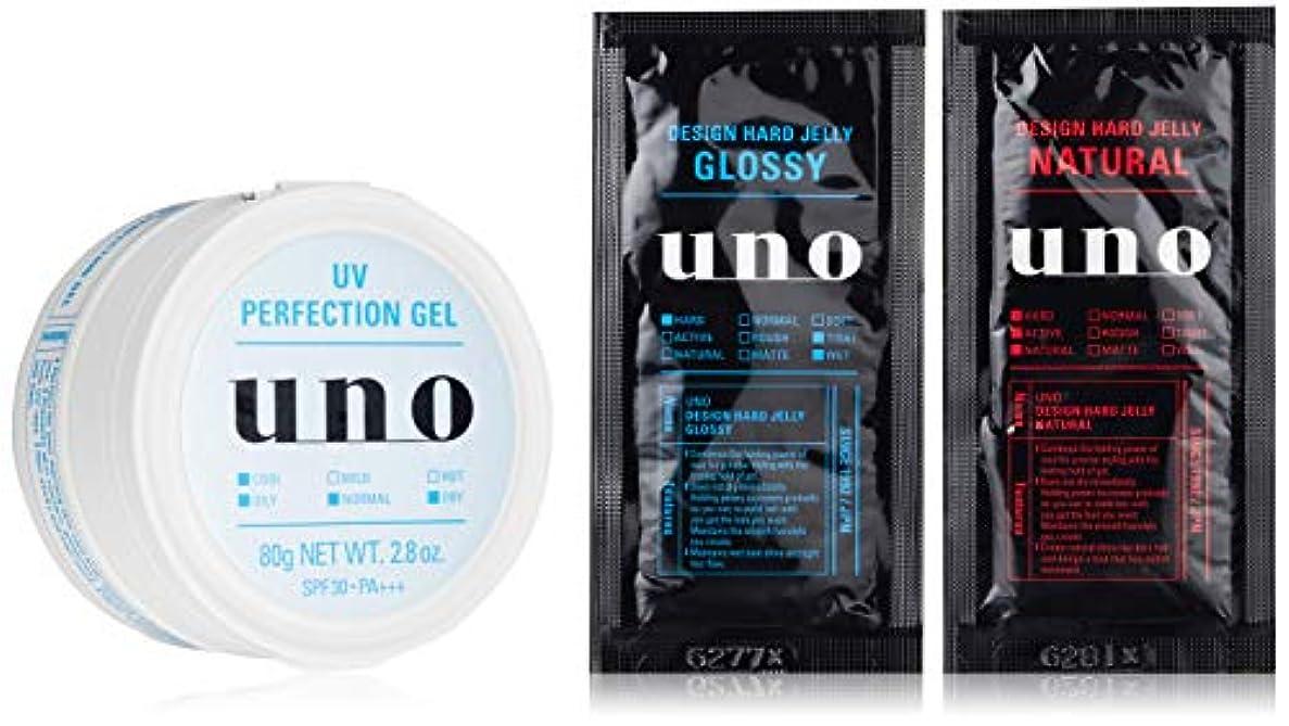 二週間電極協力的【Amazon.co.jp限定】ウーノ UVパーフェクションジェル メンズフェースケアSPF30/PA+++ 80g (医薬部外品) おまけ付きセット