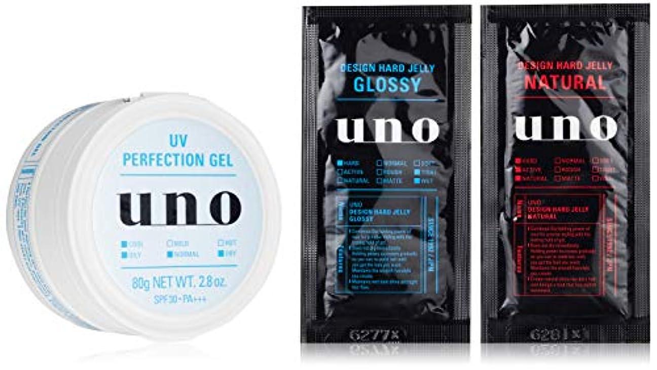 遅らせるサークル変形する【Amazon.co.jp限定】ウーノ UVパーフェクションジェル メンズフェースケアSPF30/PA+++ 80g (医薬部外品) おまけ付きセット