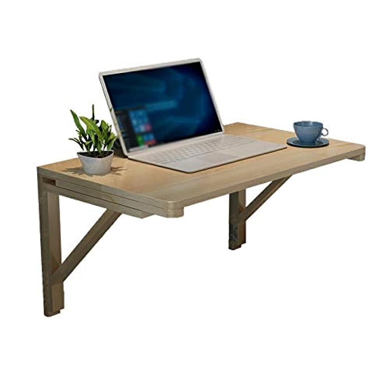 生まれグループ心のこもったZZ 折りたたみテーブル 台所寝室のために適した純木の掛かる折るコンピュータテーブルの壁に取り付けられた小さい机(サイズ:31.5×19.7in)
