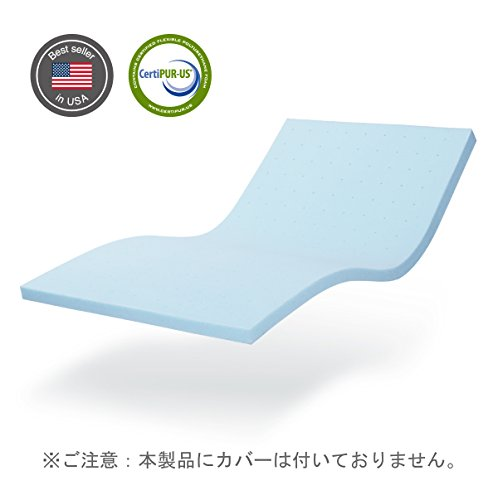 ジェルメモリーマットレストッパー 5cm厚 ( ダブル)
