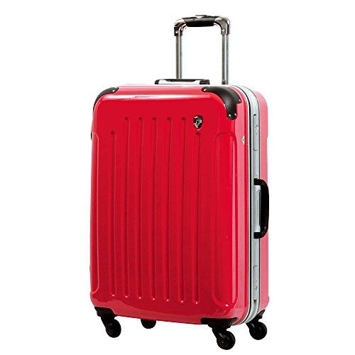 LM型 ラディカルレッド / newPC7000 スーツケース キャリーバッグ TSAロック搭載 鏡面加工 大型 (7~14日用)