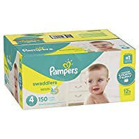 Pampers Swaddlers Disposable Diapers Size 4 150 Count [並行輸入品]