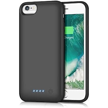 0c46bb2680 iPhone6/6s/7/8 対応 バッテリー内蔵ケース 6000mAh バッテリーケース 充電ケース iPhone7 対応 ケース バッテリー  大容量 4.7インチ用 黒