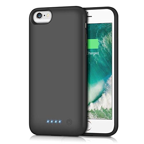 iPhone6/6s/7/8 対応 バッテリー内蔵ケース 6000mAh バッテリーケース 充電ケース iPhone7 対応 ケース バッテリー 大容量 4.7インチ用 黒