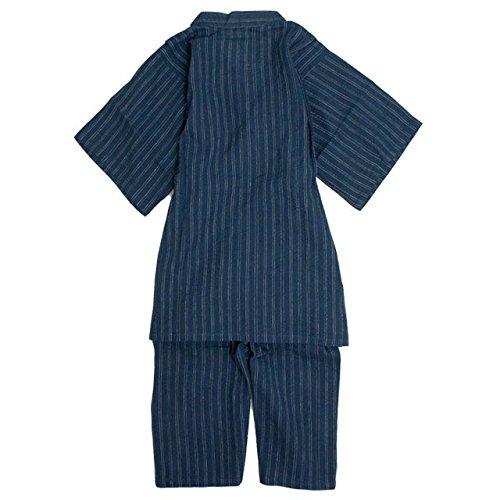 甚平 子供 ジュニア 男の子 綿100% しじら織り じんべい スーツ上下 子供甚平 紺 150cm