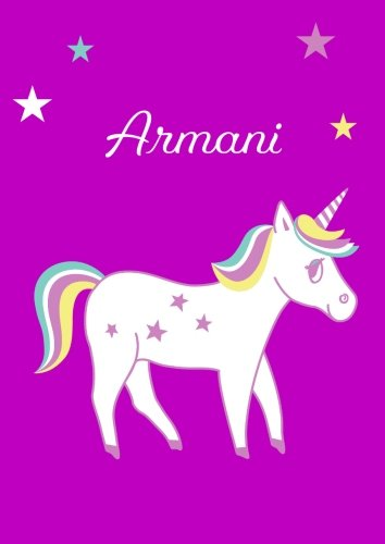 Armani: Unicorn Notebook / Coloring Book / Diary - DIN A4 - blank