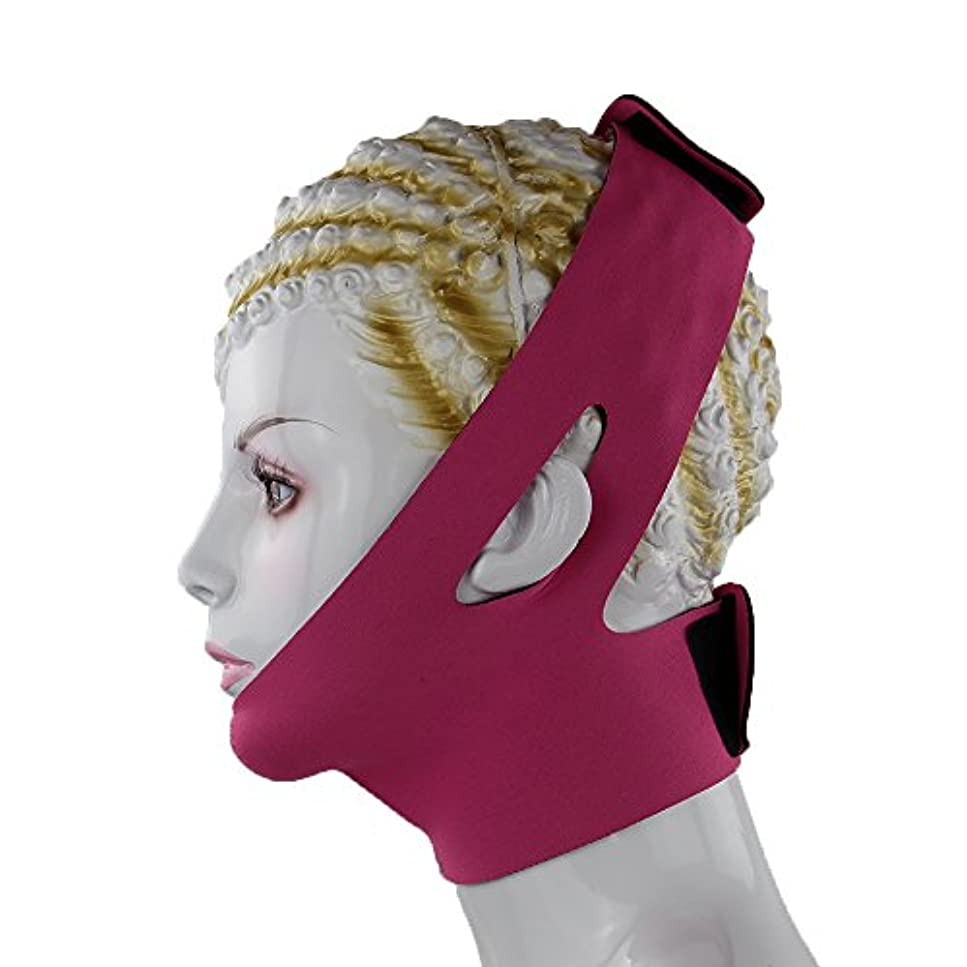 ピストンフォーマルしかし小顔 美容 顎サポーター ほうれい線 豊齢線 解消 マッサージグッズ フェイスマスク 二重あご 加圧 ベルト レディース (ピンク)