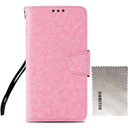 Samsung Galaxy S4 ケース 手帳型 Galaxy S4 カバー Camiter 高品質 PU合皮レザー カード収納 スタンド機能 マグネット式 財布型 フリップカバー 耐衝撃 高級感 おしゃれ (ピンク)