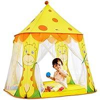 子供の遊びのテントトンネル赤ちゃん遊び家屋内遊園地プラスチック製のおもちゃの部屋 (Color : Yellow, Size : 105 * 95 * 102cm)