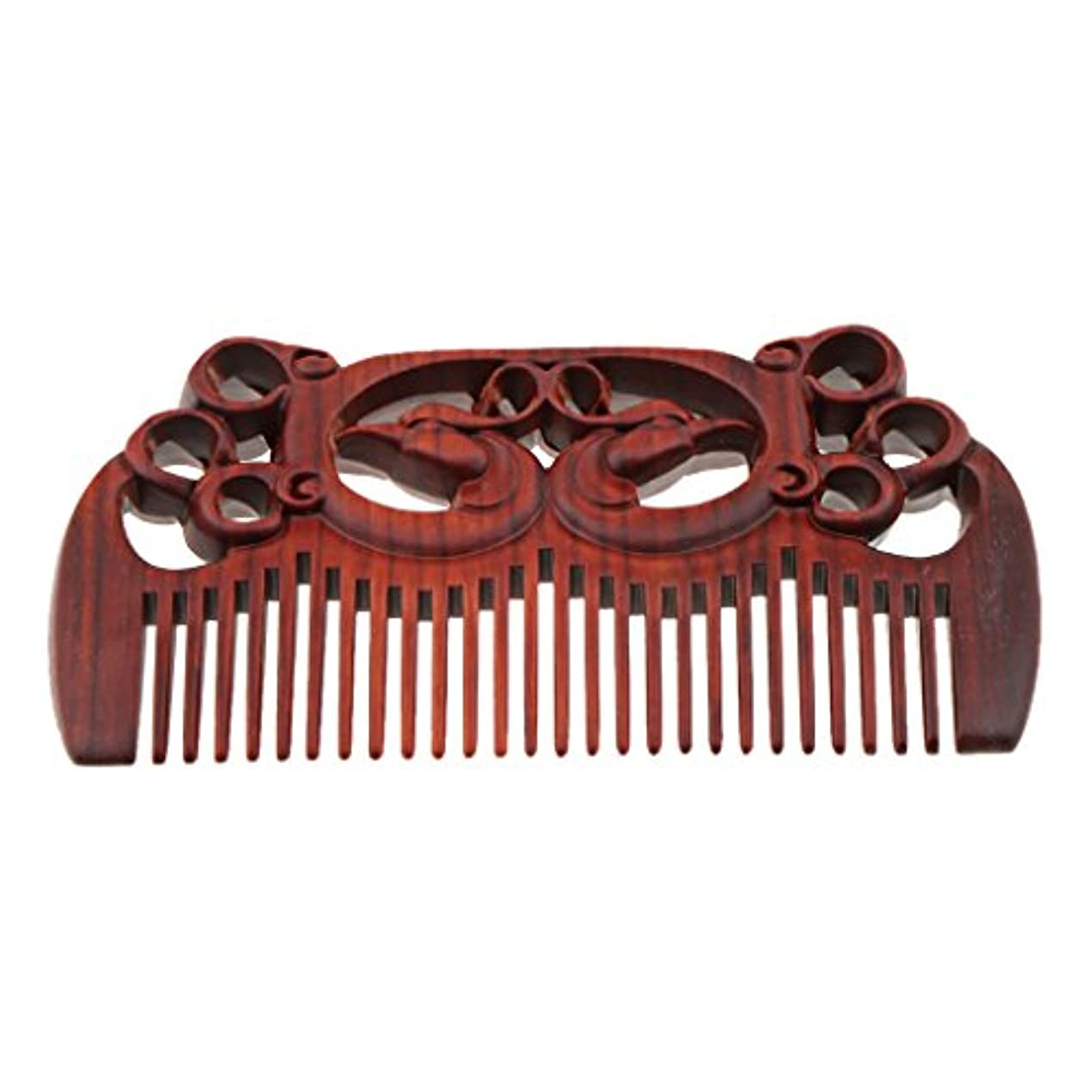 おじいちゃんペックスナップFenteer 木製櫛 頭皮マッサージ 櫛 ワイド歯 ヘアコーム ヘアブラシ ヘアスタイリング 高品質 2タイプ選べる - #1