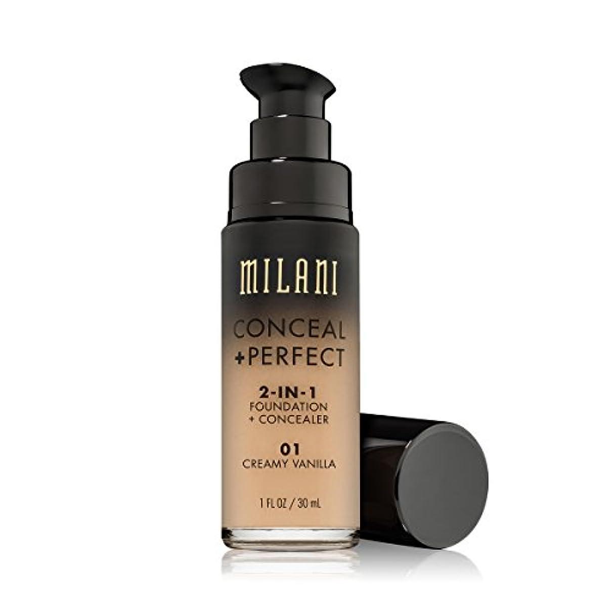 冷える肺炎推進力MILANI Conceal + Perfect 2-In-1 Foundation + Concealer - Creamy Vanilla (並行輸入品)