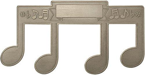 ミュージシャン ページ開き止め 音符柄 Note Shaped Stainless Steel Page Holder - Embossed, Engravable