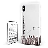 iPhone 6 Plus/iPhone 6s Plus カバー 地平線 影 自由の女神 町 建物 ケース 全面保護 指紋防止 耐衝撃 すり傷防止 超耐久 スマホケース 防塵 薄型 アイフォン ケース カバー 携帯ケース 携帯カバー