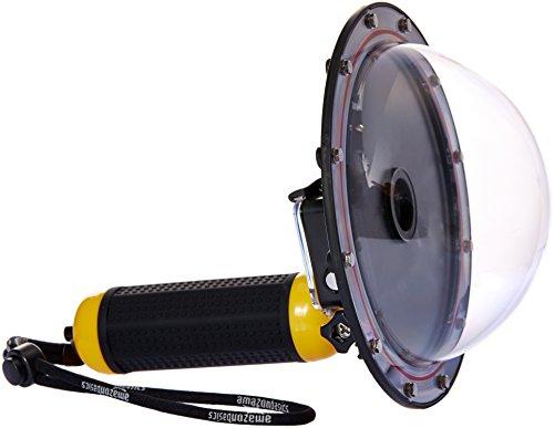 Amazonベーシック カメラアクセサリー GoPro用 水中ドームポート イエロー HERO3/HERO4用