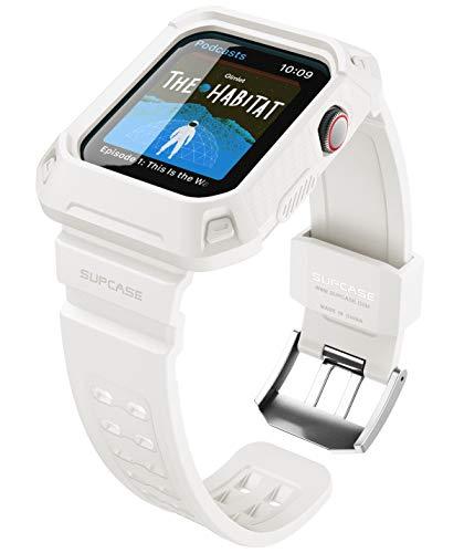SUPCASE Apple Watch Series 4/5 保護ケース 44mm バンド 衝撃吸収 アップルウォッチ シリーズ 4 / 5 対応 カバー (白)