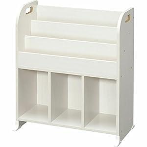 アイリスオーヤマ(IRIS) おもちゃ箱 ホワイト 幅63×奥行34.7×高さ75.3cm 絵本ラック ER-6030