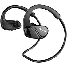 ZEALOT H6 Bluetooth Headsets Sport Headphones with Armband Fall-Proof Ergonomic Design Earphone for Running Or Gym Workout - Black