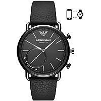 Emporio Armani Men's Quartz Smartwatch smart Display and Leather Strap, ART3030