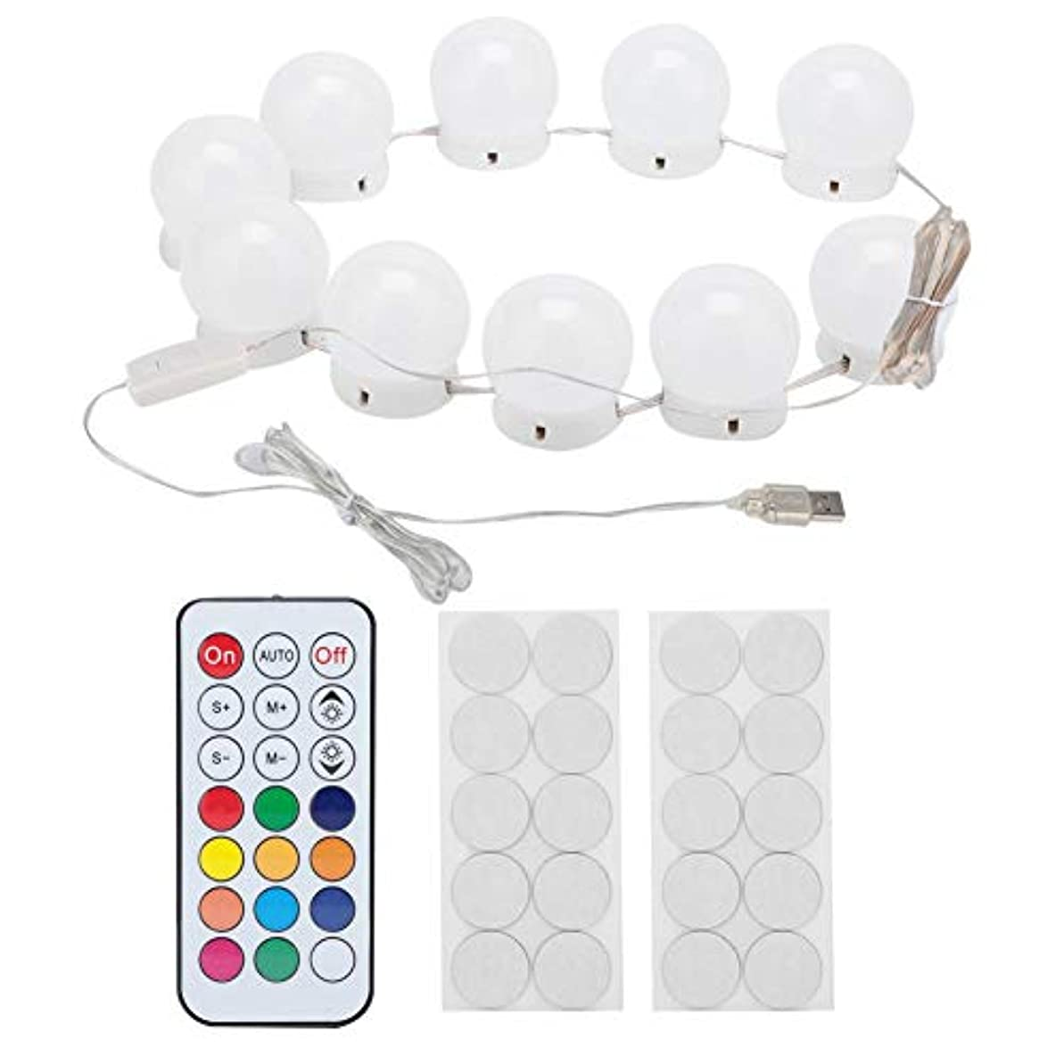 契約ランプ異形化粧鏡ラ??イトキット 10 LED付き調 光ライトストリング電球バニティライト バスルーム 化粧鏡に最適