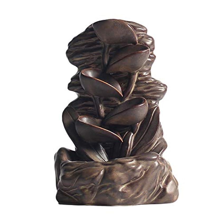 ライオングラフィック水平CUHAWUDBA 逆流香バーナークリエイティブホームインテリアセラミック香ホルダー香りアロマディフューザー+ 10ピース香コーン