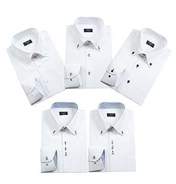ワイシャツ 長袖 5枚セットメンズ ビジネス シャツ 多色選択(LM501A-S)