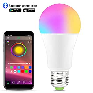 Remon スマート LED電球ライトRGBW調色 1600万色自由操作使用家電照明Android App制御スマートBluetooth4.0ランプ と同期 タイマー機能 バー/レストラン/ベッドルームに最適 - 10W